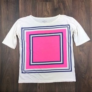 J.Crew Collector Tee M Top Square Shirt Cotton
